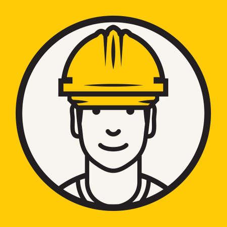hard worker: Hard hat safety - Construction worker sign