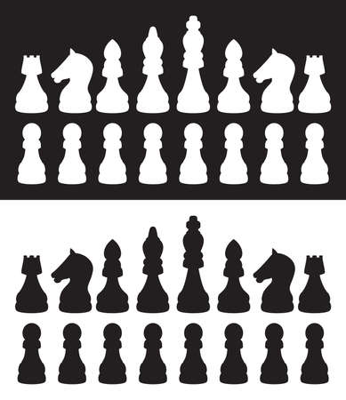 caballo de ajedrez: Iconos vectoriales de ajedrez