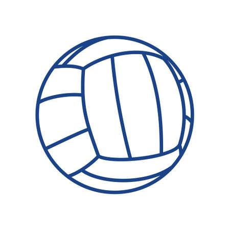 pelota de voley: Voleibol ilustración vector de la bola Vectores