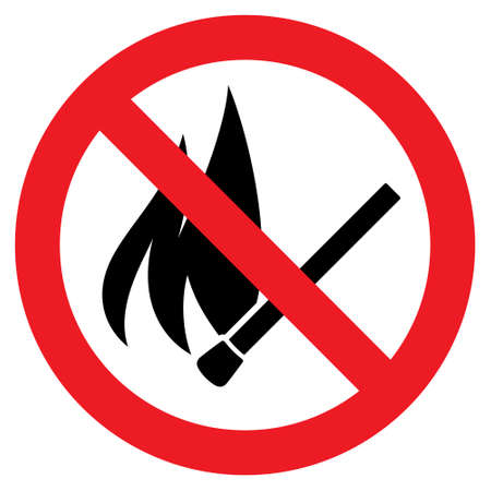 informing: No fire sign