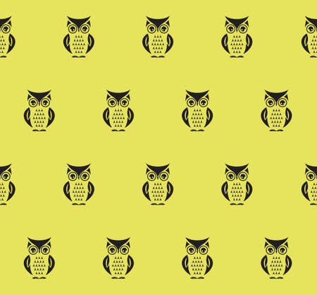 owl vector: Owl seamless vector pattern Illustration