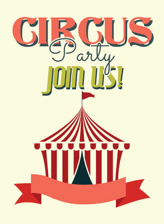 marquees: Circus party retro poster