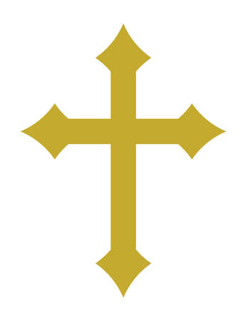 the christian religion: Cross vector icon
