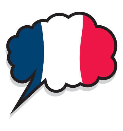frances: Francia burbuja de texto en el idioma