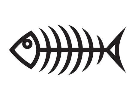 huesos: Pescados del vector del icono del hueso