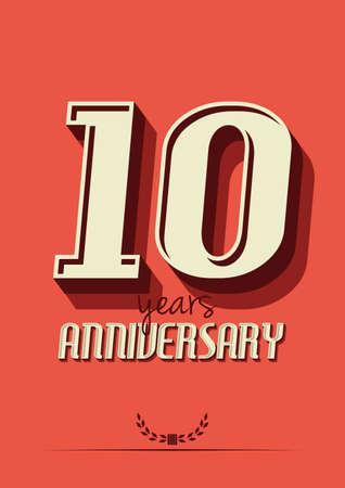 10th: 10 years anniversary Illustration