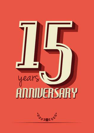 15 years: 15 years anniversary