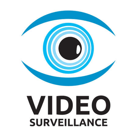 video surveillance: Video surveillance vector icon