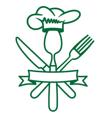 knife fork: Cutlery - knife, fork and spoon restaurant vector icon Illustration