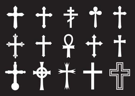 gold cross: Big cross vector collection
