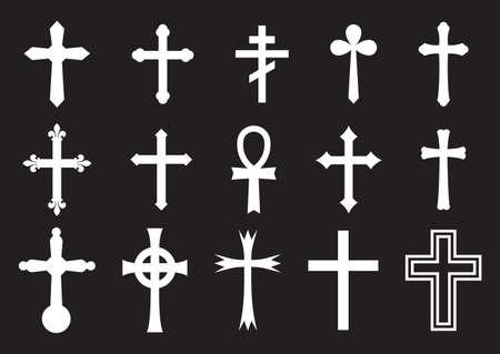 religion catolica: Vector colección Gran cruz