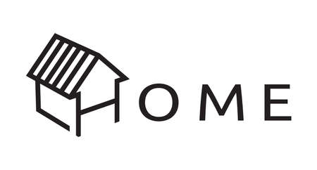 residential houses: Home vector icon Illustration