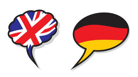 fluency: British and German language cloud