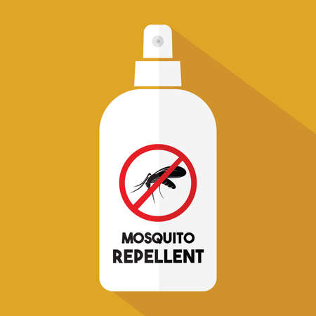 biting: Mosquito repellent vector icon Illustration