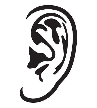 audition: Ear vector icon