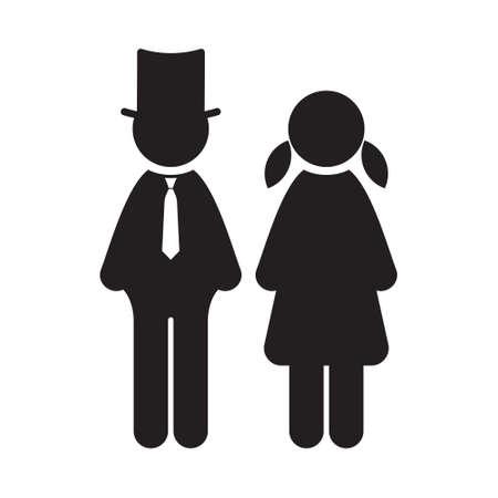 husband and wife: Wedding vector icon