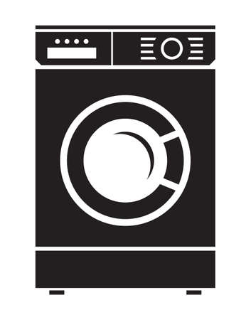 clean home: washing machine vector icon Illustration