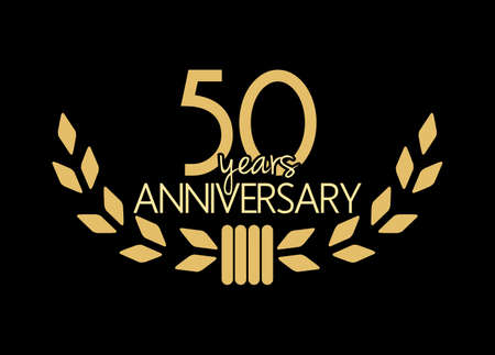 number 50: 50 years anniversary