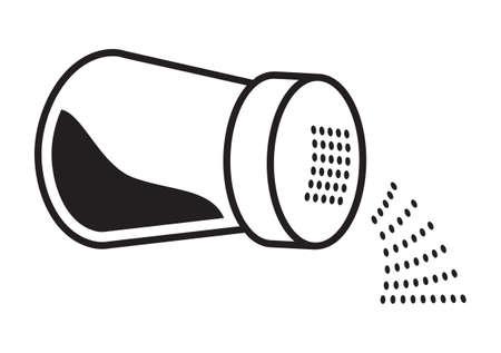 sal: Icono del vector de la sal