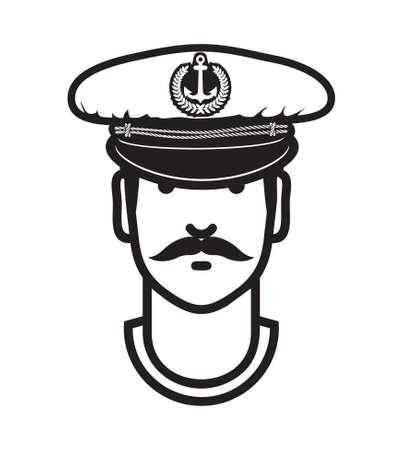 mariner: Captain avatar vector icon