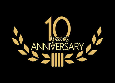 10 years anniversary Stock Illustratie