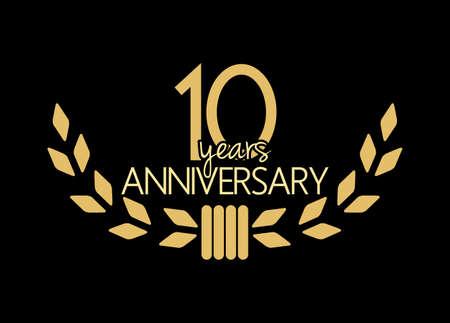 10 Jahre Jubiläum Standard-Bild - 47722044