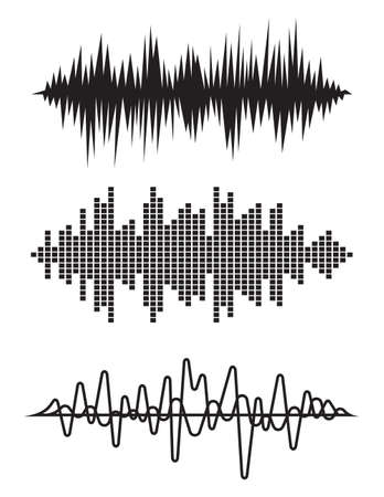 Equalizer pulse heart beats cardiogram vector illustration