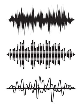 cardiogram: Equalizer pulse heart beats cardiogram vector illustration