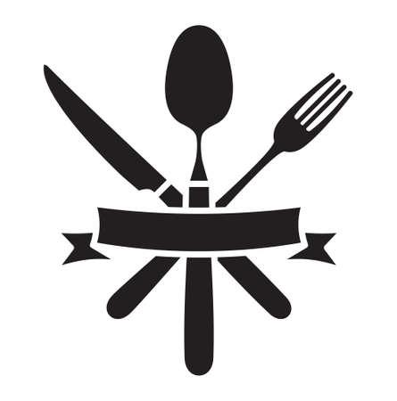 Bestek - mes, vork en lepel restaurant vector icon