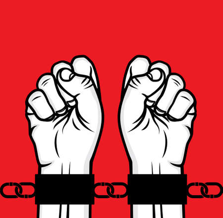 chained: Arrested man hand and hand cuffs