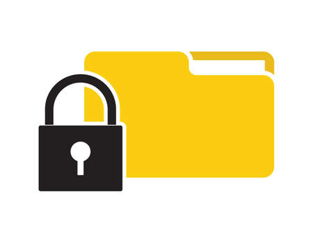 folder lock: Lock folder vector icon
