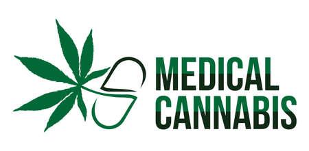 hoja marihuana: ilustración vectorial de cannabis medicinal
