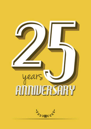 aniversario: 25 años de aniversario Vectores
