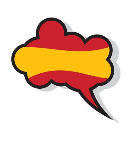 hola: Learn Spanish cloud Illustration