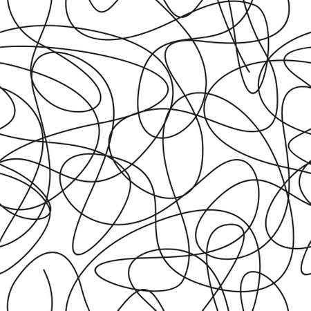 Curve line seamless vector pattern Ilustrace