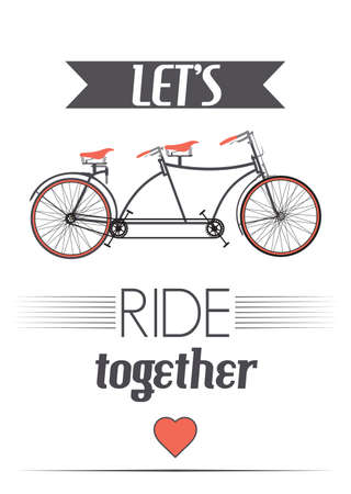 ride: Lets ride together retro poster