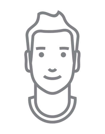 business man vector: Man Avatar outline vector icon