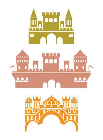 fortress: Castle vector illustrations Illustration