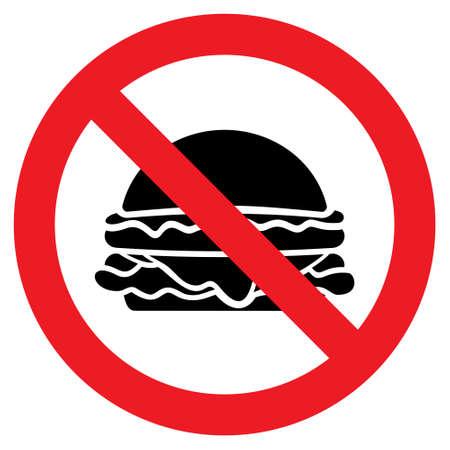 no food: No food vector icon