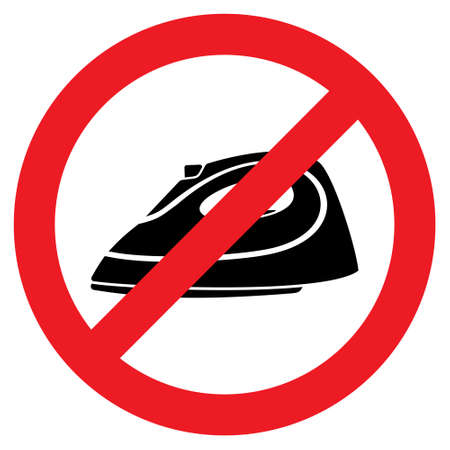smoothing: No Steam iron vector icon Illustration