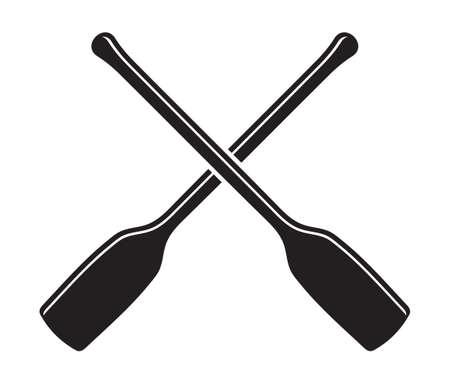 canoe: canoe kayak paddle vector icon Illustration