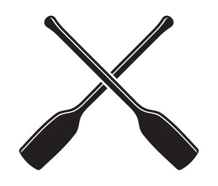 canoe kayak paddle vector icon
