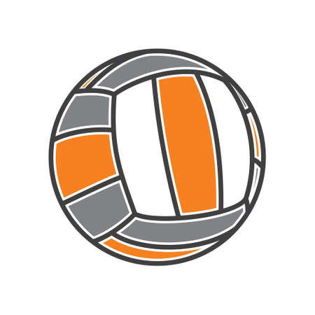 voleibol: Voleibol ilustración vector de la bola Vectores