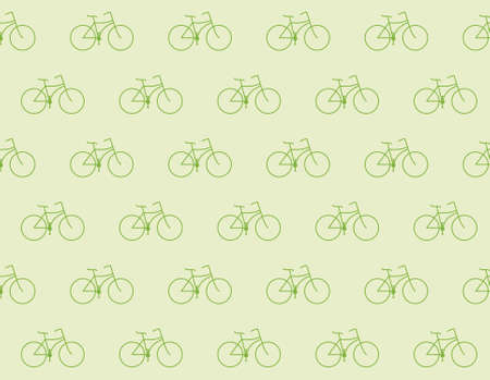 pedaling: Retro bike pattern