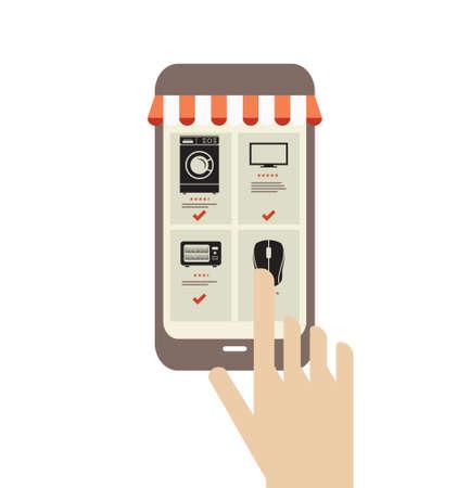 web store: On-line web store Illustration