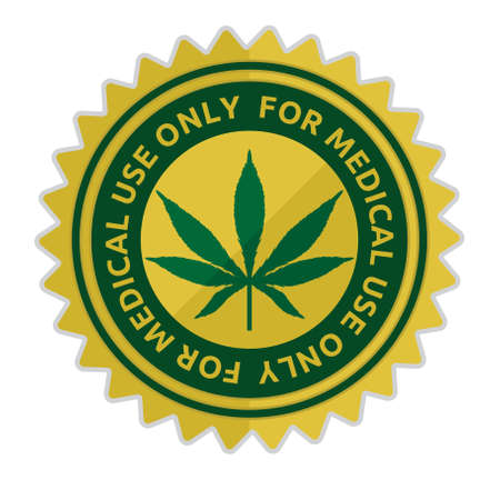 medical illustration: Medical marijuana - Medical cannabis vector illustration Illustration