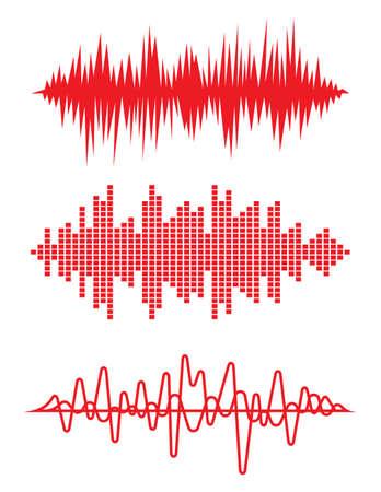 corazon: Ecualizador corazón pulso late ilustración vectorial cardiograma Vectores