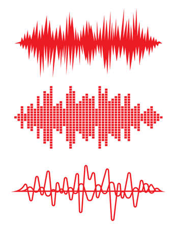 heart beat: Equalizer pulse heart beats cardiogram vector illustration