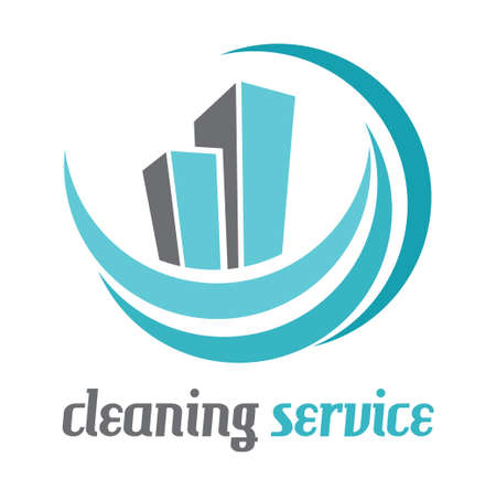 window cleaner: Cleaning services vector illustration Illustration