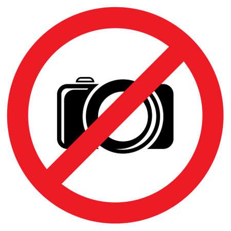 prohibited: No camera sign Illustration